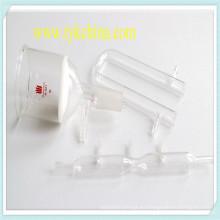 Embudo con cristalería de laboratorio de filtro hecha por vidrio de borosilicato