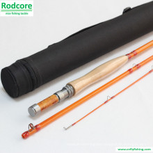 Yellow Yr663-3 Quality Made Classic Fiberglass Fly Rod