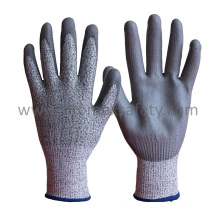 Hppe Cut Resistant Work Glove with PU Palm Coated