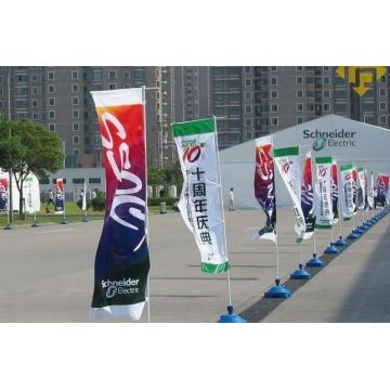 Outdoor Flying Rectangular Banner Flag With Flagpole