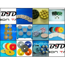 polishing pad for concrete and stones