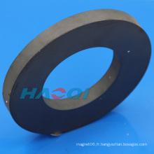 Aimant en céramique à base ronde avec trou