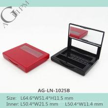 Una rejilla Rectangular de sombra de ojos caso con espejo y la ventana AG-LN-1025B, empaquetado cosmético de AGPM, colores/insignia de encargo