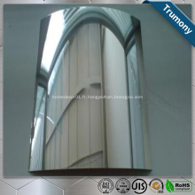 Feuille de miroir en aluminium enduite de couleur pour la décoration