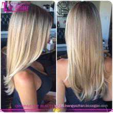 Straight Brazilian Virgin Hair gradient Color Tape Hair Extension