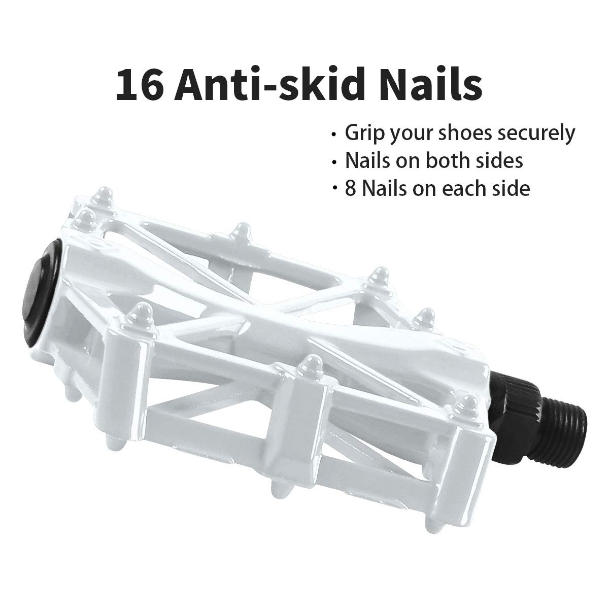 Road Bike Pedals with 16 Anti-skid Pins
