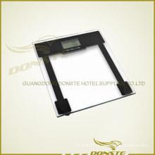 Escala de peso de aço quadrado de vidro digital