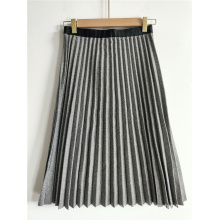 Grey Pleated Skirt For Ladies