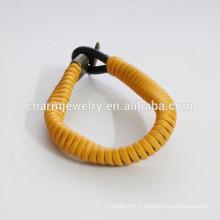 Bracelet en cuir bracelet en couleur comme bracelet à ressort PSL028