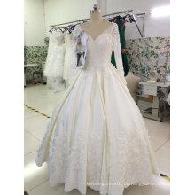 Eine Linie populärer Verkauf Fertigen Sie empfindliches Hochzeits-Kleid besonders an
