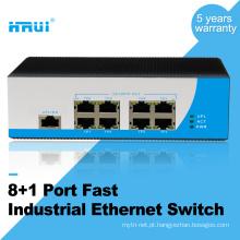 Fonte de alimentação dupla Din rail não gerenciado 100 M 9 portas industrial ethernet switch