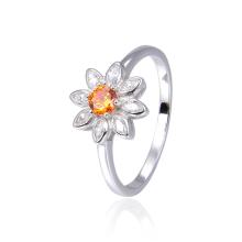 925 sterling silver flower ring gemstone zircon personalized custom ring