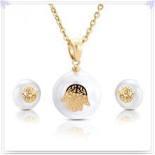 Joyería de perlas accesorios de moda joyería de acero inoxidable conjunto (js0200)