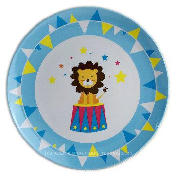 8 polegadas rodada Melamina Kids Plate