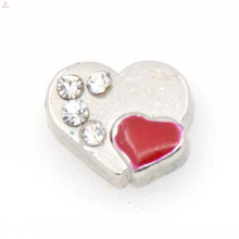 Pave heart charms, red heart shape jewelry