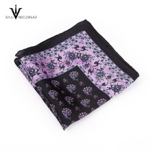 Tecido de seda Jacquard listrado gravata botão de punho quadrado de bolso
