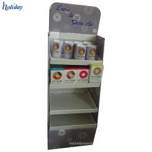 Cartão estável durável do suporte de exposição de 4 séries para uma variedade de produtos.