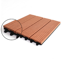 Durable WPC Wood Plastic Composite Decking Interlocking Puzzle Floor for Outdoor DIY WPC Tile