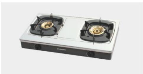 Double Table Brass Gas Stove