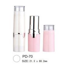 Tubo de batom plástico redondo cosmético