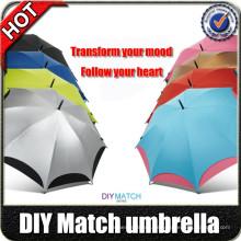 """Regenschirm Hersteller 23 """"8k speziellen Griff automatische lustige Design Regenschirm mit Logo Prints"""