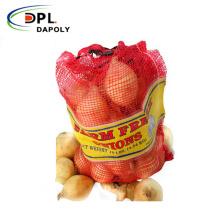 whole sale 25kg 50kg pp leno mesh tubular bag for onion potato and vegetables and fruit