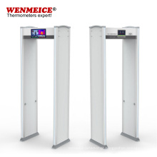 Porta de metal de segurança para detecção de temperatura sem contato