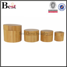 cosmetic bamboo jars in stock custom logo cream jars empty bamboo dropper bottles in stock bamboo lotion bottles