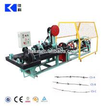 China Fábrica de Alta Velocidade Duplo Fio Normal Trançado Arame Farpado Máquina