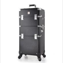 Les cas cosmétiques de haute qualité en cuir noir (hx-q071)