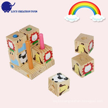 Puzzle Toy Wooden Face Toy Cube Puzzle