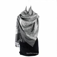 Best Selling Paisley pattern Echarpe Jaquard Stole Fashionable Long Hijab Wrap Women Spring Scarf