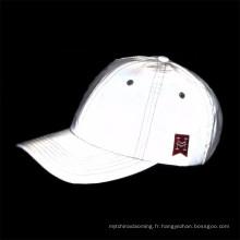 Lueur personnalisée haute visibilité dans le chapeau réfléchissant sombre