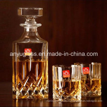 Модный квадратный спиртной напиток / вино / спирт / стеклянные бутылки со стеклянной крышкой