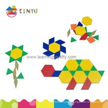Puzzle de blocs de motifs en plastique pour élève (K003)