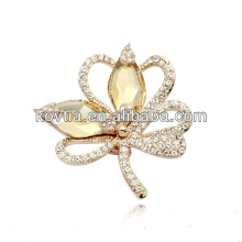 Vente en gros de bijoux fantaisie en cristal en forme de broche mode robes pour fête des femmes