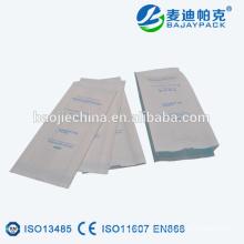 Медицинская жара-Запечатывание Складчатые стерилизации бумажный мешок