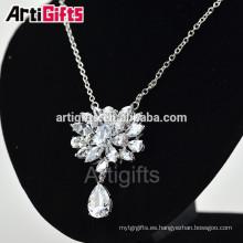 Collar nupcial del encanto de la manera de la joyería del diamante de la zirconia cúbica de calidad superior