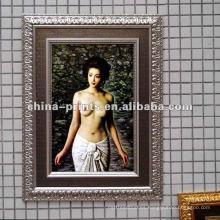 Pintura al óleo desnuda popular de la muchacha de la decoración