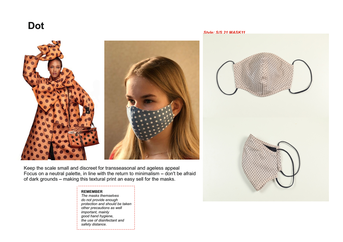 fashion textile mask