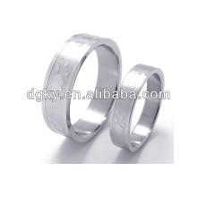 Conjuntos de casamento de aço inoxidável Anéis Couple Ring Set