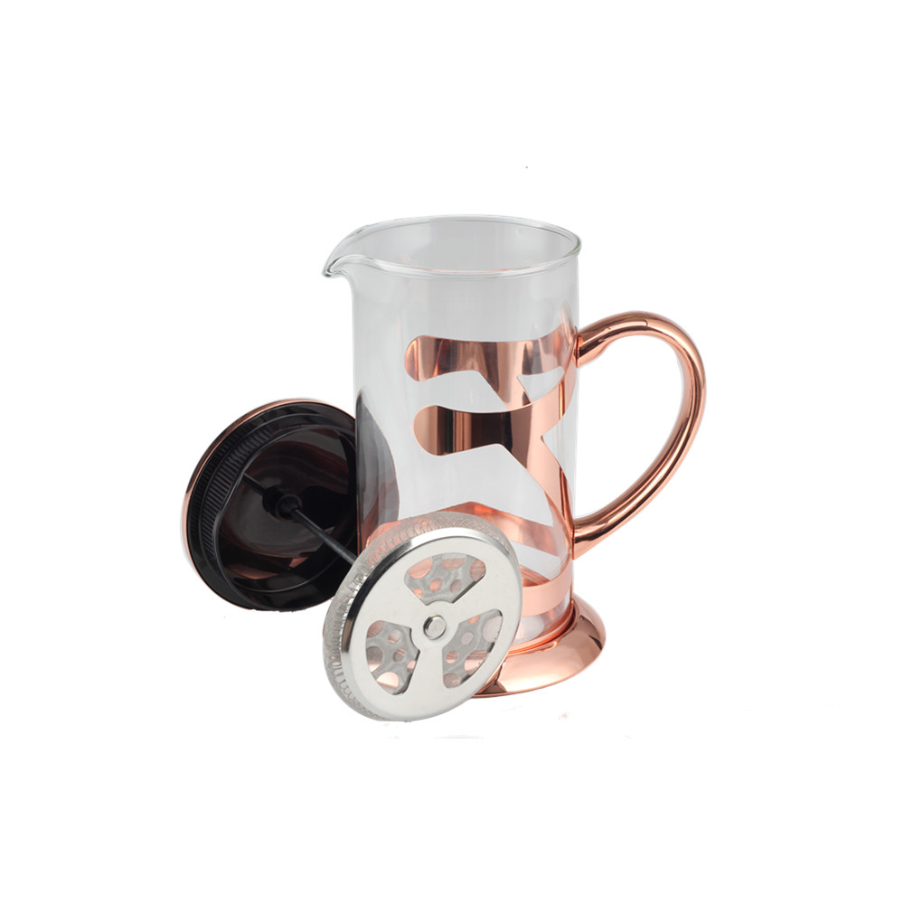 Copper Glass Coffee French Press