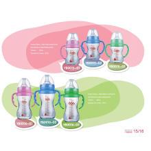 Botella de alimentación de bebé de vidrio borosilicato neutro sin BPA