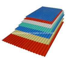 Folhas e materiais ondulados do telhado do PVC da anti corrosão