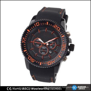 black silicone watch men