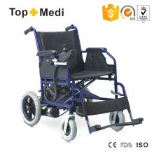 Cadeira de rodas elétrica padrão de aço com preço mais barato para pessoas com deficiência