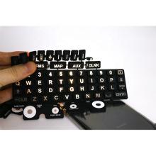 Silkscreen Printing Laser Etching Engraving Rubber Keyboard