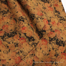 Vintage Style Printing Suede Fabrics for Garment