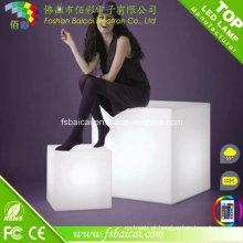 RGB Cor Mudança Night Club, Party LED Cube, Impermeável LED Cube Chair Iluminação