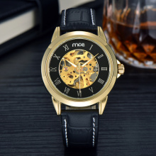 Shenzhen Watch Factory Gold Skeleton Watch pour hommes